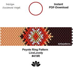 peyote ring patternPDF-Download 419R beading pattern