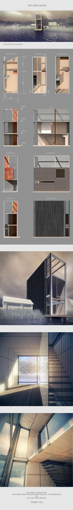 The lake house by Nikita Kolbovskiy, via Behance