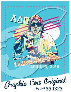 I Love the 80s tape neon Alpha Delta Pi decades #grafcow