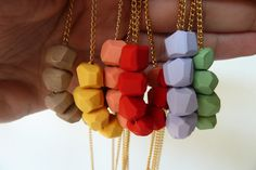 colourful necklaces $21.99