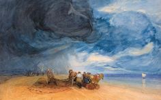 Storm on a Yarmouth beach (detail) by John Sell Cotman. Masterpieces: Art and East Anglia, review.