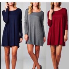 tunic dress ONE HOUR SALE Chic swing tunic dress available in lots of colors PLEASE comment on the size and color you want and allow me to make you a personalized listing BUNDLE and save 10% Dresses