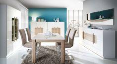 Bucura-te de confort si eleganta la tine acasa zi de zi cu gama de mobilier nou din import de la Detolit Company. Teak, Sweet Home, Dining Table, Vanity, Furniture, Attention, Home Decor, Living Room, Painted Makeup Vanity
