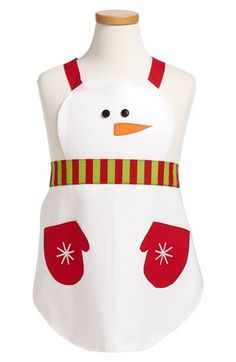 Design Imports Snowman Child's Apron