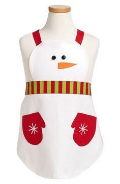 Avental de natal do boneco de neve