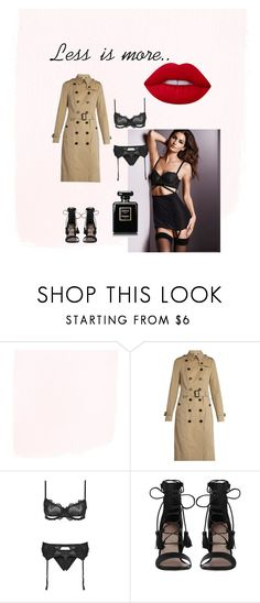 """Teasing mood"" by marina-polonska on Polyvore featuring мода, Burberry, Victoria's Secret, Zimmermann и Lime Crime"