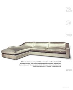 Metallic velour with feather down cushions. amazing.