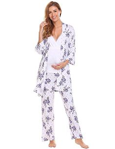 221a03571a91a Dicesnow Womens Nursing Pajama Sets Long Sleeves Cotton Maternity Sleepwear  -- Want additional info? Click on the image. #MaternityNursingSleepwear