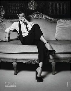 Victoria Beckham photographed by Karl Lagerfeld for Elle France No. 3486, October 2012