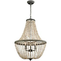 Cote des Basques Pearl Chandelier - Coastal Cottage
