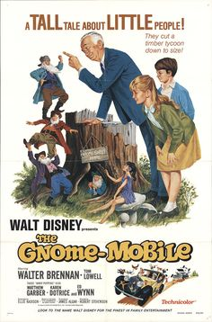 The Gnome Mobile 1976 Original Movie Poster Adventure Family Fantasy | eBay