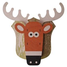 Deer Head. Fun wood wall art from Paul Ocepek with a cool 3D pop out effect.