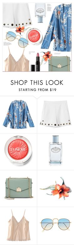 """""""Beautiful Spring Day"""" by mycherryblossom ❤ liked on Polyvore featuring Clinique, Prada, Jennifer Lopez and Bobbi Brown Cosmetics"""