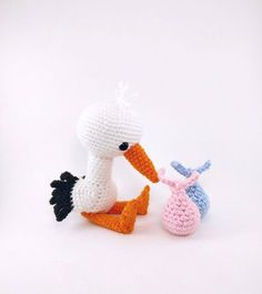 Solly the Stork amigurumi pattern by Theresas Crochet Shop Crochet Bird Patterns, Crochet Birds, Amigurumi Patterns, Cute Crochet, Crochet Animal Amigurumi, Crochet Animals, Crochet Hook Sizes, Crochet Hooks, Stuffed Animal Patterns