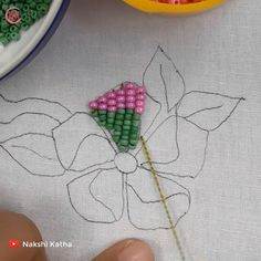 Hand Embroidery Flower Designs, Hand Embroidery Videos, Embroidery Patterns, Diy Leather Earrings, Brazilian Embroidery, Galaxy Wallpaper, Cross Stitch Embroidery, Needlework, Beading