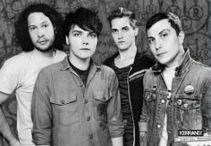 Black and White gerard way frank iero mikey way my chemical romance mcr ray toro not my original picture just my edit