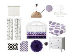 Girl Nursery l Purple Nursery l Kate Brock Interior Design