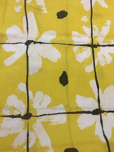 Vintage Vera Neumann Pair of Daisy chain burlington NOS unused Mod Retro Pillowcases Yellow Black 42 x 38 by cortigiana on Etsy https://www.etsy.com/listing/235309902/vintage-vera-neumann-pair-of-daisy-chain