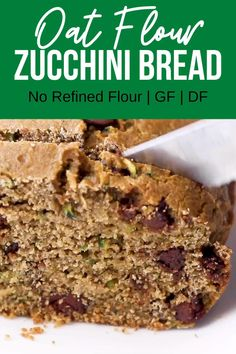 Oat Flour Recipes, Healthy Bread Recipes, Healthy Banana Bread, Healthy Muffins, Healthy Baking, Real Food Recipes, Dessert Recipes, Gluten Free Flour Bread Recipe, Oat Flour Banana Bread
