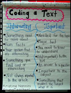 Young Teacher Love: Reading and Summarizing Nonfiction: Coding the Text. Let's teach kids to code text AND questions for greater reading comprehension. (Use this for literacy groups in science! Comprehension Strategies, Reading Strategies, Reading Skills, Teaching Reading, Reading Comprehension, Teaching Ideas, Guided Reading, Reading Activities, Reading Tips