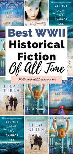 Do you love World War 2 historical fiction? Don't miss these WW2 romances, biographical WWII historical fiction, and books inspired by real events during WW2 set around the globe. Find books like All The Light We Cannot See, The Library of Legends, The Book of Lost Names, and Lilac Girls. Historical Fiction Movies, Fiction Books To Read, Fiction And Nonfiction, Books You Should Read, Best Books To Read, Good Books, My Books, Book Suggestions, Book Recommendations