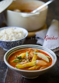 Korean spicy pork and zucchini stew with just a few ingredients. Serve with rice and you will have the spicy Korean comfort on either cold and hot day!