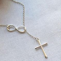 Blessed Silver Cross Necklace Brand New - All orders will be shipped the same day! Comes packaged! Jewelry Necklaces