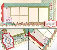Happy Times  - This 2 page 12x12 layout set is perfect for photos of a family activity, children playing, a vacation, amusement park, carnival, etc. DaringDezinz Etsy shop by Tamara Jensen