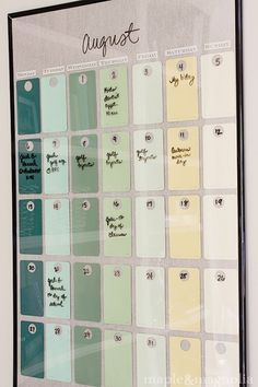 Very neat: DIY Paint Chip Calendar
