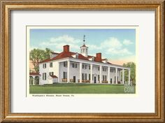 Washington's Mansion, Mt. Vernon, Virginia Art Print at Art.com
