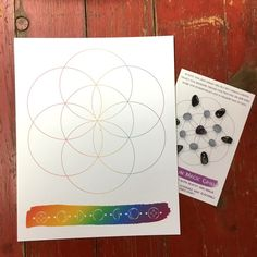 Believe in Magic Crystal Grid Info Card 4x6 & 8 by The7Directions