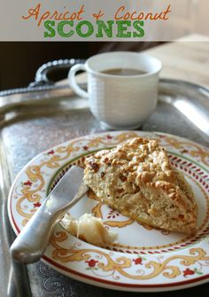 Simple Apricot and Coconut Scones