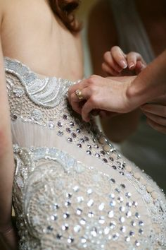 Close up of J'aton Couture - The detail is magnificent
