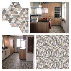 Vives Ceramica  Rift Hexagono Fingal Tiles in a Swiss kitchen project by Franziska van Rhienen.