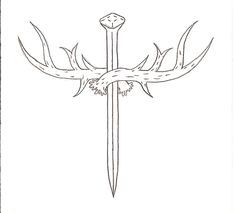 Hunter's Cross by Hellsing-Order. on deviantART - Tattoos Bow Hunting Tattoos, Deer Antler Tattoos, Deer Antlers, Gear Tattoo, Bike Tattoos, Body Art Tattoos, Tattoo Drawings, Cross Tattoos For Women, Wrist Tattoos For Guys
