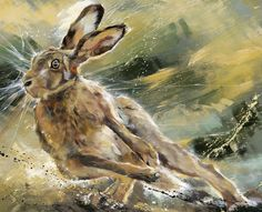 Turn Of Speed by Debbie Boon  #art #artist #gallery #yorkshire #Pocklington #wolds #littleacorns #country #countryside #countrypursuits #hunt #hunting #hounds #hare #shooting