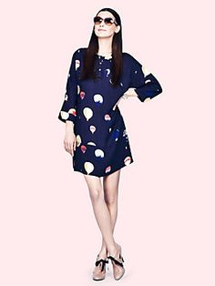 balloon brie dress, rich navy multi Only Kate Spade can make hot air balloons look so chic