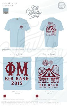 Phi Mu | Bid Bash | Bid Day | Circus Theme Bid Day | Carnival | South by Sea | Greek Tee Shirts | Greek Tank Tops | Custom Apparel Design | Custom Greek Apparel | Sorority Tee Shirts | Sorority Tanks | Sorority Shirt Designs