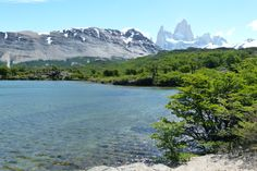 A laguna capri with Mount Fitzroy and Cerro Torre in the background