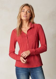 Made of organic cotton, the Besha top is perfect for layering. Head to prAna.com for more eco friendly basics to complete your capsule wardrobe for fall and winter.