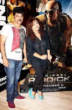Rajesh Khattar with wife Vandana Sajnani at the screening of 'Riddick' #Fashion #Style
