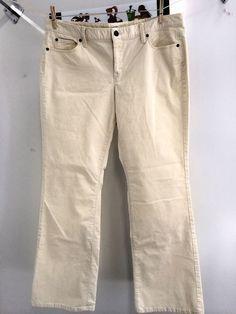 Ann Taylor Curvy Fit Slim Leg Light Gray Corduroy Pants Women's ...