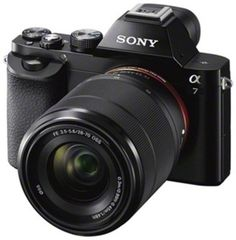 2008a097fef Sony - Alpha a7 Compact System Camera with 28-70mm Lens - Black - Front