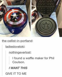 Brooo #waflemaker #captainamerica #captainamericashield