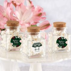 Make your little goodies really impress with our Romantic Garden Petite Square Glass Favor Jar! If you plan to give candy favors at your romantic garden wedding or garden themed bridal shower, these Petite. Wedding Favour Jars, Bridal Shower Favors, Glass Showcase, Garden Bridal Showers, Kate Aspen, Candy Favors, Personalized Favors, Personalized Wedding, Garden Theme