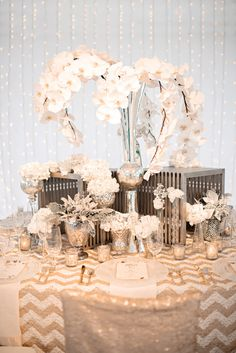 Table decor by An Affair to Remember and Kristen Weaver Photography | via junebugweddings.com
