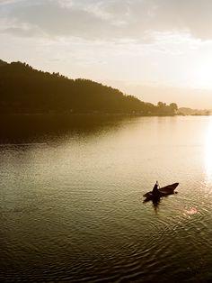 Dal Lake, which dominates Srinagar in India