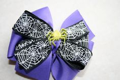 Spider Halloween Hair Bow by MariasBowTique on Etsy, $4.75