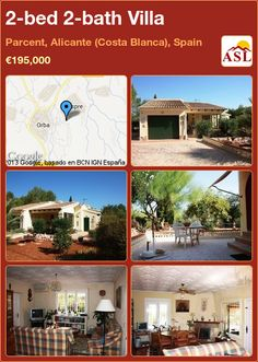 2-bed 2-bath Villa in Parcent, Alicante (Costa Blanca), Spain ►€195,000 #PropertyForSaleInSpain