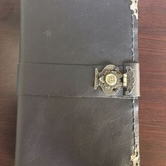 The finished product of my black leather refillable journal cover. More to come :) #leathercraft #leather #journaling #bulletjournal #art #artist #sketchbook #sketch #diary #wanderlust #bookbinding #craft #artisan